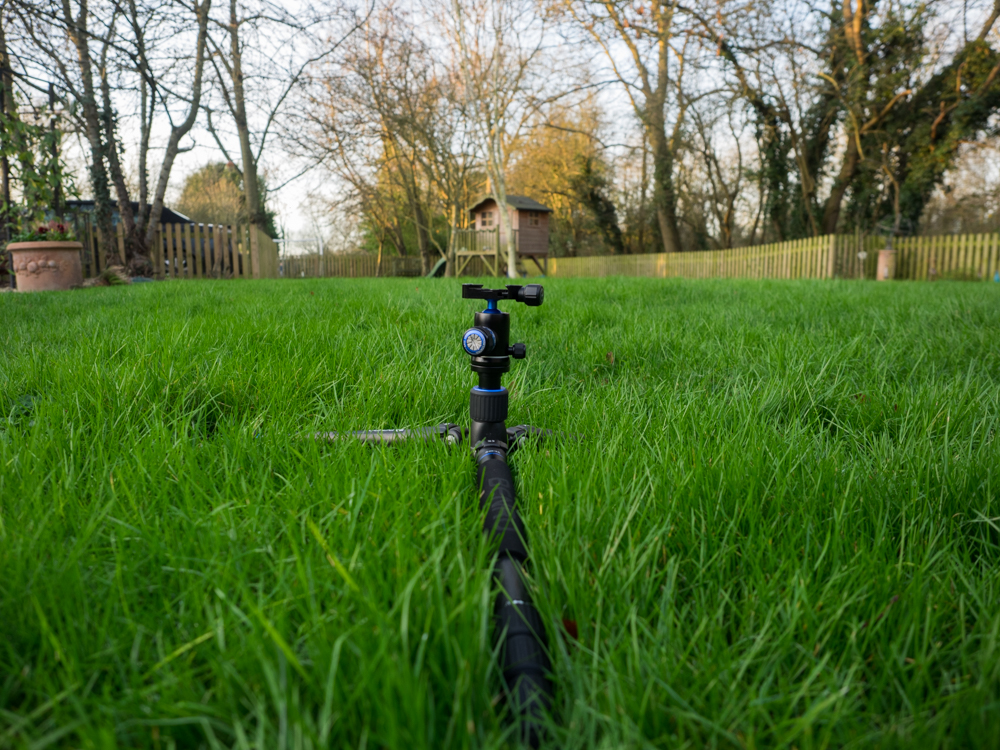Benro Travel Angel Tripod in a low position without the centre pole