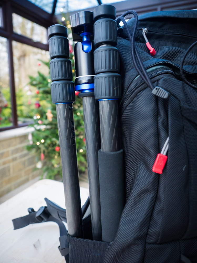 Benro Travel Angel Tripod In a Benro Ranger 200 Backpack